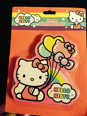 NEW Sanrio Hello Kitty Cat scented Jumbo large huge 4 inch Erasers rubber clean