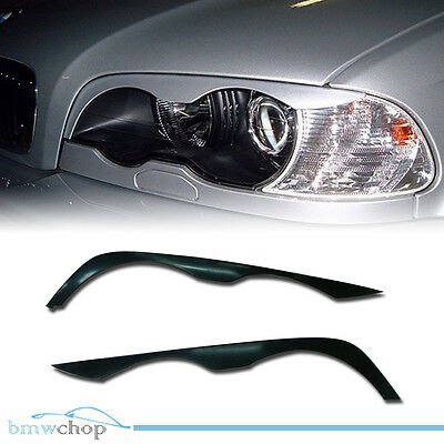 BMW E46 2DR Coupe Headlight Eyelids Eyebrows Cover 98-02