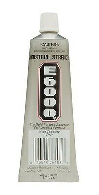 Eclectic 220011 3.7 oz. E-6000 High Viscosity Multi-Purpose Adhesive, Clear