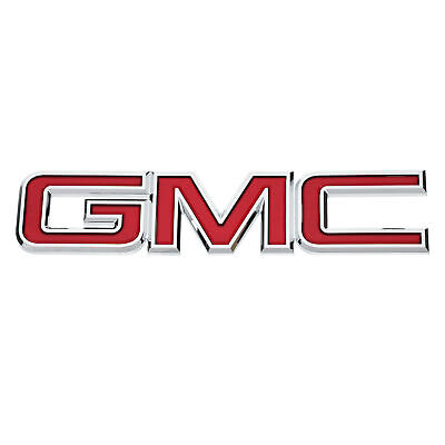 OEM NEW Front Grille GMC Emblem Badge Red Chrome 08-10 GMC Sierra 22761795