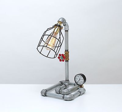 Vintage Steampunk Industrial Machine Age Table Lamp A.k.a.maze