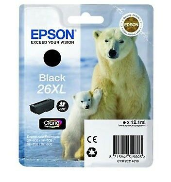 T2621 ( 26XL ) Genuine Black Ink Cartridge for Epson Expression Premium XP-800