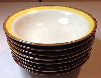 Yamaka Stoneware Suncraft ORLENA (8) SOUP CEREAL BOWLS Excellent Condition