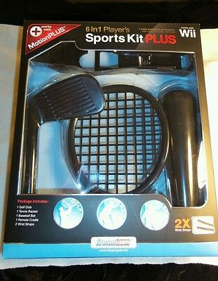 6 in 1 Player's Sports Kit Plus for Wii Combo Pack Controller Case Fun Game Gift