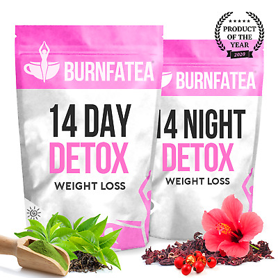 BURNFATEA 14 DAY TEATOX SET (Herbal Fat Burner, Diet Detox Tea, Burn Fat Tea)
