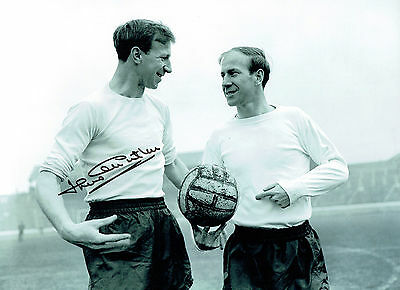 Jack CHARLTON Signed England Football 16x12 Autograph Photo AFTAL COA