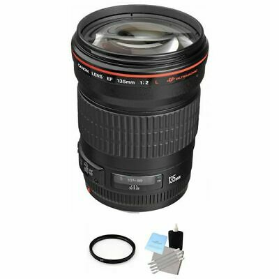Canon Telephoto EF 135mm f/2.0L USM Autofocus Lens + UV Filter & Cleaning Kit