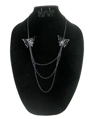 One Dozen New Wholesale Butterfly Necklace & Earring Sets #N2506-12