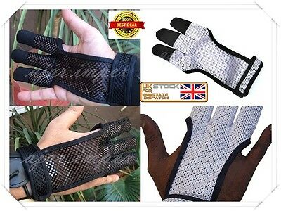 Archers Mesh Shooting 3 Fingers Glove-Archery,hunting Leather Free Gloves