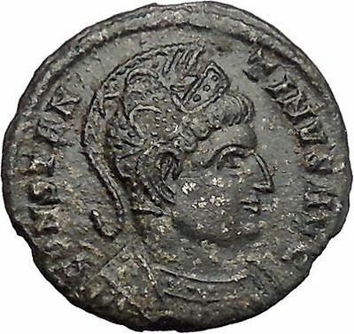 Constantine I 'The Great' Ancient Roman Coin Trier mint Altar with globe i48142