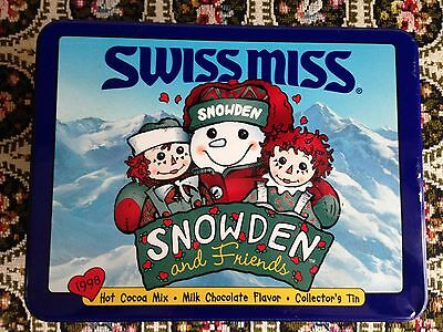 Vintage 1998 Swiss Miss Raggedy Ann & Andy Snowden And Friends Collectors Tin