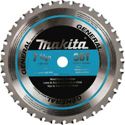 "Makita 7-1/4"" 36T Mild Steel Cutting Cermet-Tipped Saw Blade A-93815 NEW"