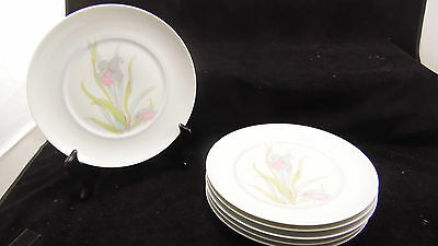 Lot de 6 assiettes plates en porcelaine de Limoges Ancienne Manufacture Royale