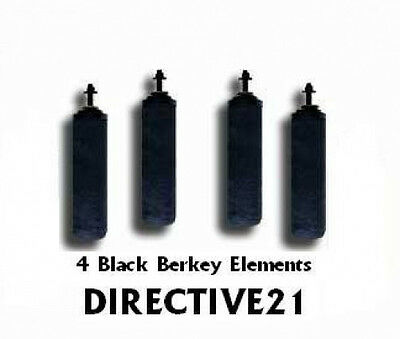 4 Crown Berkey Black Purification filters & 2 PF2