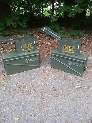 FOUR U.S. Military / UN Ammo Cans - 2-40mm and 2-30 cal