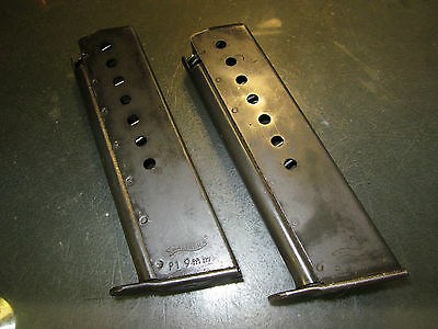 2 Walther P1 / P38 Pistol 8-Round Magazines, 9mm Post WW2 FREE SHIP