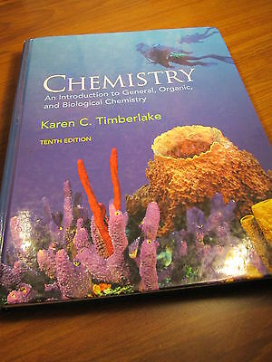 CHEMISTRY BY KAREN TIMBERLAKE, HARDCOVER, TENTH EDITION