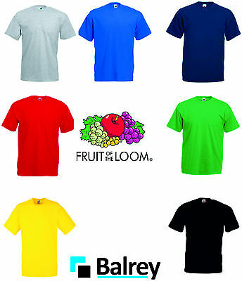 New Fruit of the Loom Heavy Cotton Plain Blank T-Shirts FOTL