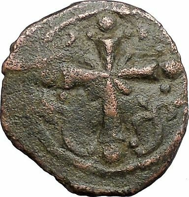 JESUS CHRIST Class I Anonymous Ancient 1078AD Byzantine Follis Coin CROSS i48192