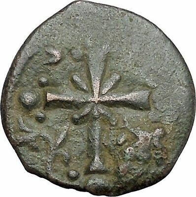 JESUS CHRIST Class I Anonymous Ancient 1078AD Byzantine Follis Coin CROSS i48193