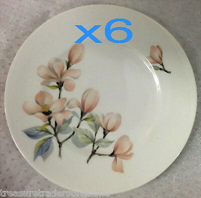 ROYAL ADDERLEY 6 OPHELIA SIDE PLATES RIDGEWAY POTTERIES ENGLAND FINE BONE CHINA