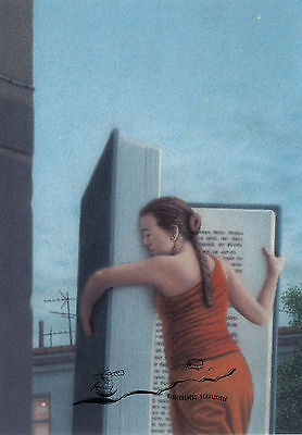 Kunstkarte / Postcard Art - Quint Buchholz:  Lesende Frau / Woman Reading