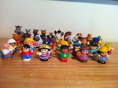 Huge Lot of 30 Fisher Price Little People Figures Toys People little tikes