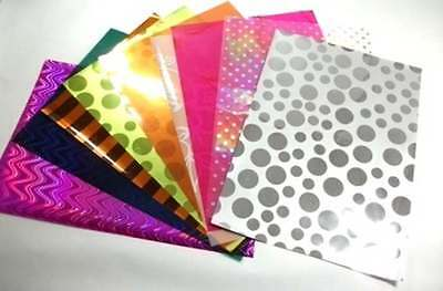 10 A4 Sheets of Craft film Assorted Designs & Colours New