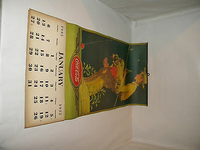 """1935 coca cola Norman Rockwell """"Gone Fishing"""" Calender"""