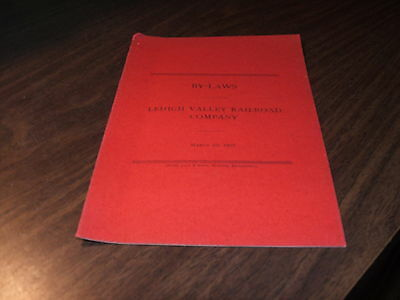 MARCH 1907 LEHIGH VALLEY RAILROAD COMPANY BY-LAWS