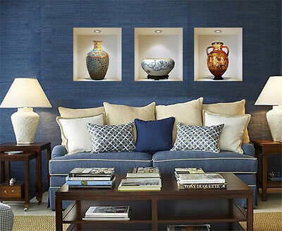 3D vase home Decor Removable Wall Sticker/Decal/Decoration