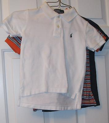 TODDLER BOYS LOT OF THREE (3) MULTI-COLOR POLO BY RALPH LAUREN SHIRTS  SIZE 4 4T