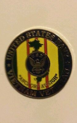 MILITARY HAT / LAPEL PIN -  VIETNAM VETERAN UNITED STATES NAVY -  V.N. Veteran