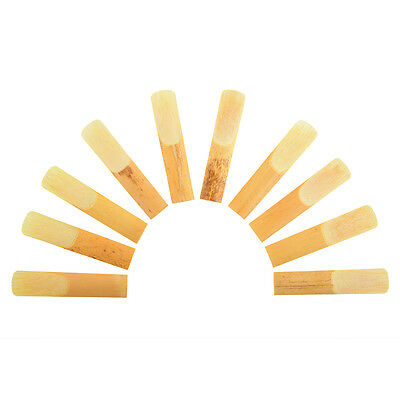 Hot 10Pcs Alto Saxophone Sax Reed Bamboo 2.5 Replacement Music Accessories
