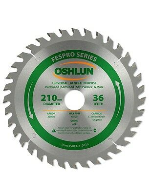 Oshlun SBFT-210036 210mm 36 Tooth General Purpose Blade for Festool TS 75 EQ