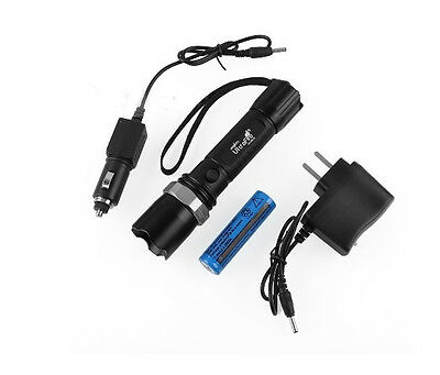 New CREE 7W Rechargeable 18650 LED 500Lm Torch CREE Q5 LED Zoom Light Flashlight