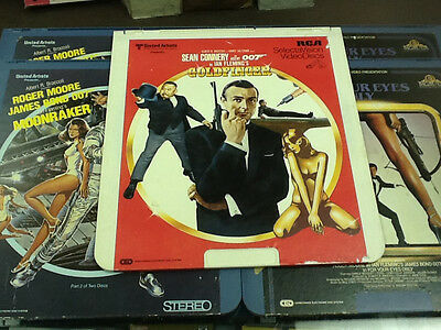 LOT OF 4 JAMES BOND 007 DELUXE LETTERBOX EDITION LASER DISCS ced rca lazer