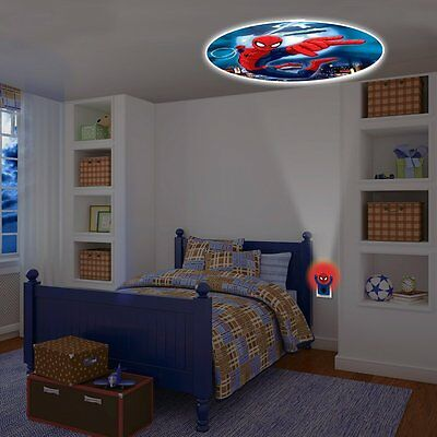 Malvel Spider Man Projecting LED Plug in Night Light ColorFull Wall Ceiling Kids