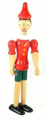 """Pinocchio New Toy 10"""" Figure Doll Wood Italy Articulate Puppet"""