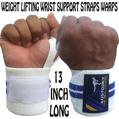 Austodex Bodybuilding Weight Lifting Gym Wraps Wrist Support Bar Straps Gloves