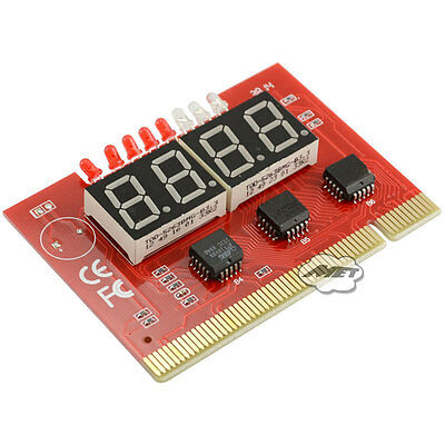 4-digit PC Mainboard Motherboard Diagnostic Analyzer Tester Computer PCI Card