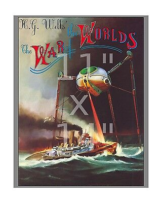 HG Wells War of the Worlds - 11x14 inch Sci-Fi Film / Movie Poster Lobby Card