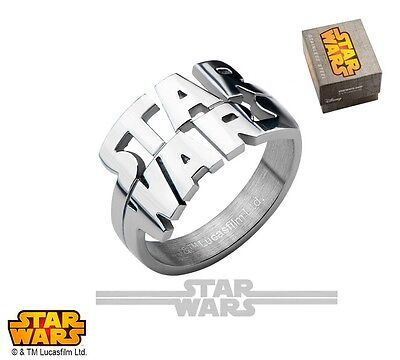 Star Wars Cut Out Logo Officially Licensed Stainless Steel Ring