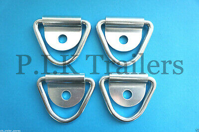 4 x Tie Down Lashing Rings & Cleat for Trailers Horsbox  #5589