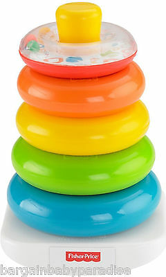 Fisher Price Toy Brilliant Basics Rock-a-Stack Kids Baby Game Stacking Rings