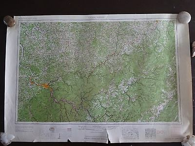 1961 - ANTIQUE Map of Charleston, West Virginia; Ohio - Topographic