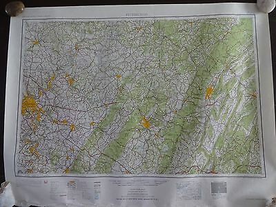 1947 - ANTIQUE Map of Pittsburgh, PA & Allegheny Mountains - Topographic