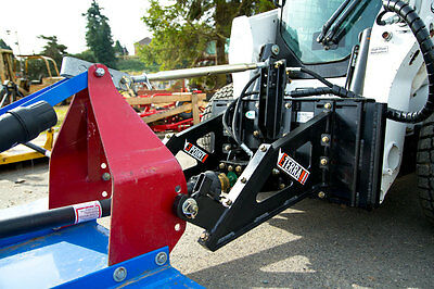 Skid Steer Tractor Attachment Adapter - 125cc  Motor - Category 2 Links - Eterra
