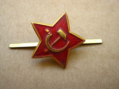 Soviet russian USSR army military cockade hat badge red star