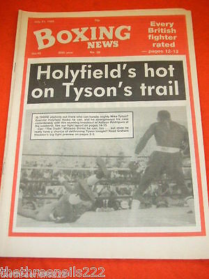 BOXING NEWS - HOLYFIELD v RODRIQUE - JULY 21 1989